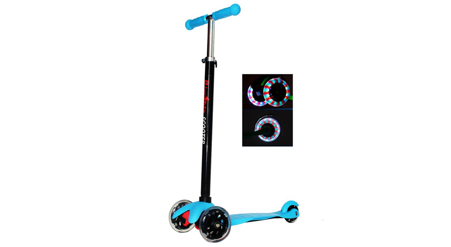 RIMABLE 3-Wheel Scooter with LED Wheels